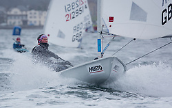 The annual RYA Youth National Championships is the UK's premier youth racing event. Day 3 with winds backing to the North the racing started on the Largs Channel.<br /> <br /> 210533, Iona Dixon, Docklands Sailing and Watersports Centre, Laser Radial Girl <br /> <br /> Images: Marc Turner / RYA<br /> <br /> For further information contact:<br /> <br /> Richard Aspland, <br /> RYA Racing Communications Officer (on site)<br /> E: richard.aspland@rya.org.uk<br /> m: 07469 854599