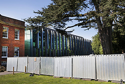 © Licensed to London News Pictures. 20/04/2018. Salisbury, UK. New barriers and fences have been erected at the police station and council offices as a cleanup operation begins in Salisbury. Former Russian Spy Sergei Skripal and his daughter Yulia were poisoned using a nerve agent in the city last month. Experts have warned that 'Toxic levels' of the nerve agent novichok could still be present at hot spots around the city. Photo credit: Peter Macdiarmid/LNP