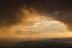 beautiful sunset over the mountains of New Mexico