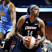 UNCASVILLE, CONNECTICUT- MAY 05:  Rachel Hollivay #14 of the Atlanta Dream in action during the Atlanta Dream Vs Chicago Sky preseason WNBA game at Mohegan Sun Arena on May 05, 2016 in Uncasville. (Photo by Tim Clayton/Corbis via Getty Images)