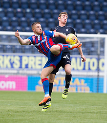 Inverness Caledonian Thistle's John Baird andFalkirk's Aaron Muirhead. Falkirk 0 v 0 Inverness Caledonian Thistle, Scottish Championship game played 14/10/2017 at The Falkirk Stadium.