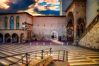 """Waiting for the visitation of St. Francis with Grace - Papal Basilica of St. Francis of Assisi""<br />