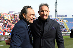 "February 10, 2019 - Bologna, Italia - Foto Massimo Paolone/LaPresse.10 febbraio 2019 Bologna, Italia.sport.calcio.Bologna vs Genoa - Campionato di calcio Serie A TIM 2018/2019 - stadio ""Renato Dall'Ara"".Nella foto: Cesare Prandelli (Genoa CFC) e Sinisa Mihajlovic (Bologna F.C.)..Photo Massimo Paolone/LaPresse.February 10, 2019 Bologna, Italy.sport.soccer.Bologna vs Genoa - Italian Football Championship League A TIM 2018/2019 - ""Renato Dall'Ara"" stadium..In the pic: Cesare Prandelli (Genoa CFC) and Sinisa Mihajlovic  (Credit Image: © Massimo Paolone/Lapresse via ZUMA Press)"