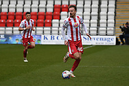 Stevenage midfielder Chris Lines (40) runs forward during the EFL Sky Bet League 2 match between Stevenage and Carlisle United at the Lamex Stadium, Stevenage, England on 20 March 2021.