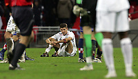 Photo: Paul Thomas/Sportsbeat Images.<br />England v Croatia. UEFA European Championships Qualifying. 21/11/2007.<br /><br />Dejected Steven Gerrard of England after the game.