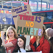 Thousands protestors attend the Youth Strike 4 Climate demand world leaders to act now at Parliament Square on 15 Feb 2019, London, UK