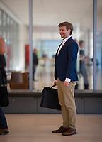 DEU, Deutschland, Germany, Berlin, 21.04.2020: Der forschungspolitische Sprecher der AfD-Bundestagsfraktion, Dr. Michael Espendiller, vor einer Sitzung der AfD-Fraktion im Deutschen Bundestag.