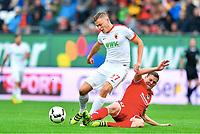 v.l. Alfred Finnbogason (Augsburg), Fabian Frei <br /> Augsburg, 18.09.2016, Fussball Bundesliga, FC Augsburg - FSV Mainz 05<br /> Norway only