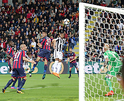 April 18, 2018 - Crotone, Calabria, Italy - Alex Sandro of Juventus scores the first goal during the serie A match between FC Crotone and Juventus at Stadio Comunale Ezio Scida on April 18, 2018 in Crotone, Italy. (Credit Image: © Gabriele Maricchiolo/NurPhoto via ZUMA Press)