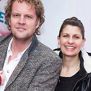 NLD/Amsterdam/20140202 - Premiere K3 Dierenhotel, Remco veldhuis en partner Ruudje Douwma