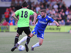 Theo Archibald of Forest Green Rovers tries to hold off Stuart Dallas of Leeds United  - Mandatory by-line: Nizaam Jones/JMP- 17/07/2018 - FOOTBALL - New Lawn Stadium - Nailsworth, England - Forest Green Rovers v Leeds United - Pre-season friendly