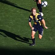 Bradley Porter in action during the Central Coast Mariners V Brisbane Roar A-League match at Bluetongue Stadium, Gosford, Australia, 19 December 2009. Photo Tim Clayton
