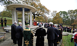 ©London News pictures...12/11/2010. Minister for Justice Lord McNally gives a speech at The Magna Carta Memorial, Runnymede, Surrey.The launch of five years of celebrations leading up to the 800th anniversary of the Magna Carta in 2015. The launch drew attention to the Magna Carta as one of the most important legal, political and constitutional documents in history. Those attending included Justice Secretary Ken Clarke, Master of the Rolls, Lord Neuberger and Minister for Justice Lord McNally. They will be joined by members of the judiciary, the worlds of politics and law.