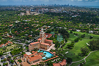 The Biltmore Hotel, Coral Gables & Miami Skyline