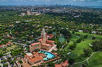 The Biltmore Hotel, Coral Gables & Miami Skyline