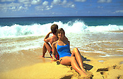 Couple on Beach, Hawaii, USA<br />