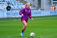 West Ham United Women forward Alisha Lehmann (7) warming up during the FA Women's Super League match between Manchester City Women and West Ham United Women at the Sport City Academy Stadium, Manchester, United Kingdom on 17 November 2019.