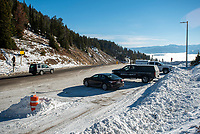 After only partially plowing the brake-check area at the top of Teton Pass after last weekend's early season snowfall, WYDOT had plowed the full area as of Thursday morning.