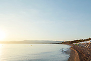 View of Aphrodite Beach in Neo Chorio, Cyprus.