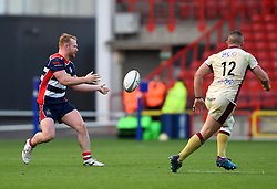 Will Hurrell of Bristol Rugby passes the ball - Mandatory by-line: Paul Knight/JMP - 22/10/2017 - RUGBY - Ashton Gate Stadium - Bristol, England - Bristol Rugby v Doncaster Knights - B&I Cup