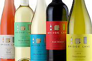 A colorful lineup of bottles from Bridge Lane on the North Fork of Long island