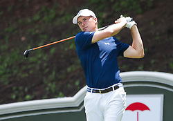 June 24, 2018 - Cromwell, CT, U.S. - CROMWELL, CT - JUNE 24:  Jordan Spieth takes a tee shot during the Final Round of the Travelers Championship on June 24, 2018 at TPC River Highlands in Cromwell, CT (Photo by Joshua Sarner/Icon Sportswire) (Credit Image: © Joshua Sarner/Icon SMI via ZUMA Press)