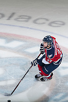 KELOWNA, CANADA - MARCH 27: Parker Wotherspoon #37 of Tri-City Americans skates with the puck against the Kelowna Rockets on March 27, 2015 at Prospera Place in Kelowna, British Columbia, Canada.  (Photo by Marissa Baecker/Getty Images)  *** Local Caption *** Parker Wotherspoon;