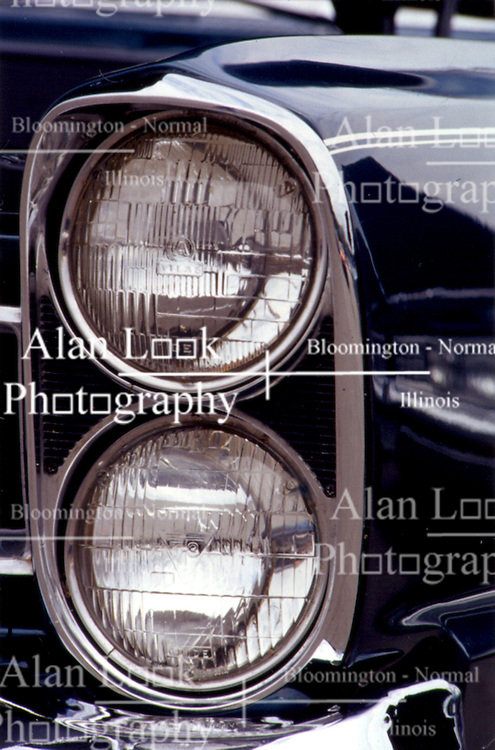 headlamp of 60's automobile
