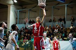 during basketball match between KK Union Olimpija Ljubljana and KK Tajfun Sentjur in Round #7 of Liga Nova KBM 2016/17, on November 18, 2016 in Dvorana Jezica, Ljubljana, Slovenia. Photo by Vid Ponikvar / Sportida