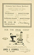 Munster Senior and MInor Hurling Championship Final,.22071934MSMHCF,..22.07.1934, 07.22.1934, 22nd July 1934,.Senior Limerick v Waterford,.Minor Tipperary v Waterford,..James A Connell, Watchmaker Jeweller Silversmith, 52 Oliver Plunkett St, Cork,.