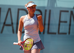 May 4, 2019 - Madrid, MADRID, SPAIN - Marta Kostyuk of the Ukraine in action during the second qualifications round of the 2019 Mutua Madrid Open WTA Premier Mandatory tennis tournament (Credit Image: © AFP7 via ZUMA Wire)