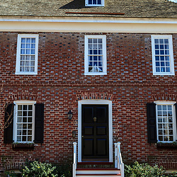 Chestertown, MD, USA - March 30, 2013: One of the many Colonial Style Brick Buildings in Chestertown, MD