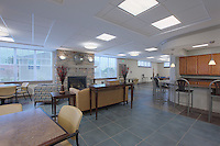 Interior design image of Upland Apartments Community Center by Baltimore architectural photographer Jeffrey Sauers
