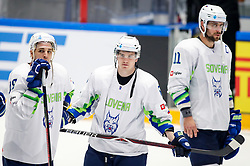 Disappointment of Ziga Pance of Slovenia, Luka Kalan of Slovenia and Anze Kopitar of Slovenia during ice hockey match between Belarus and Slovenia at IIHF World Championship DIV. I Group A Kazakhstan 2019, on May 2, 2019 in Barys Arena, Nur-Sultan, Kazakhstan. Photo by Matic Klansek Velej / Sportida