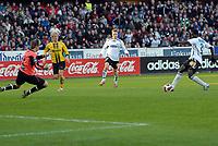 Fotball tippeligaen 160307, Rosenborg - Start<br /> Didier Ya Konan setter inn 3-0<br /> Foto: Carl-Erik Eriksson, Digitalsport