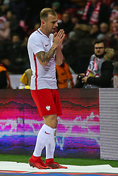 November 10, 2017 - Warsaw, Poland - Kamil Grosicki (POL) reacts during the international friendly match between Poland and Uruguay at National Stadium on November 10, 2017 in Warsaw, Poland. (Credit Image: © Foto Olimpik/NurPhoto via ZUMA Press)