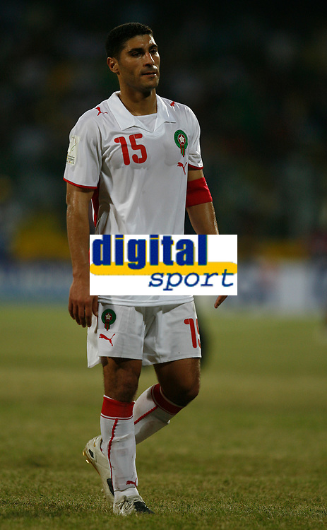 Photo: Steve Bond/Richard Lane Photography.<br />Guinea v Morocco. Africa Cup of Nations. 24/01/2008. Youssef Safri of Morocco and Southamption contemplates defeat