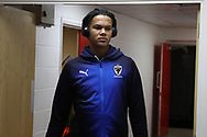 AFC Wimbledon defender Toby Sibbick (20) arriving during the EFL Sky Bet League 1 match between Charlton Athletic and AFC Wimbledon at The Valley, London, England on 15 December 2018.