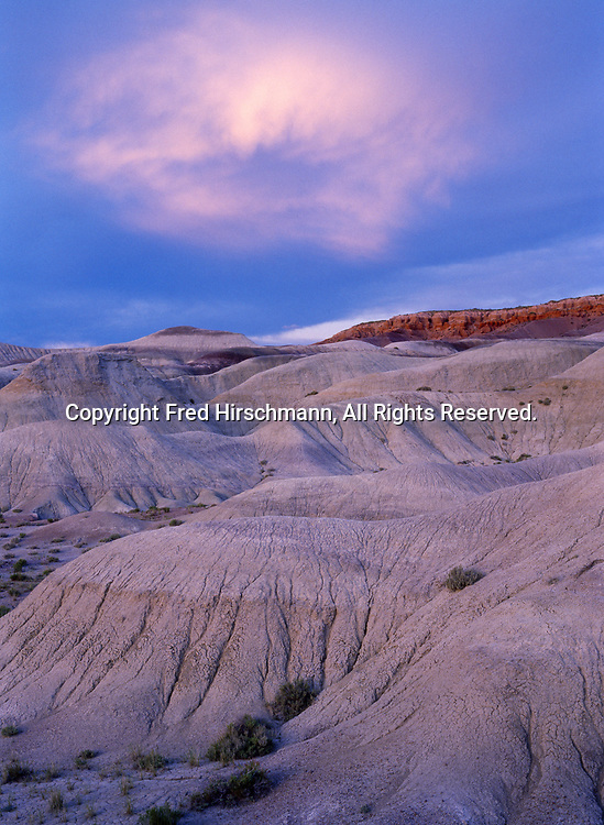 Badlands of the Chinle Formation, Little Painted Desert County Park north of Winslow, Arizona.