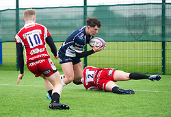 Sam Perry of Bristol Rugby Academy U18 has the try line in his sights - Mandatory by-line: Paul Knight/JMP - 11/02/2017 - RUGBY - SGS Wise Campus - Bristol, England - Bristol Academy v Gloucester Academy - Premiership Rugby Academy U18 League