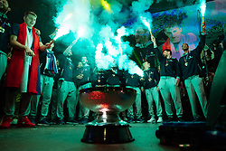 September 18, 2017 - Ljubljana, Slovenia, Slovenia - Goran Dragic and Slovenian fans attend celebrations in Ljubljana after Slovenian basketball team historical win in European Championship in Istanbul on September 18, 2017 in Ljubljana, Slovenia. (Credit Image: © Damjan Zibert/NurPhoto via ZUMA Press)