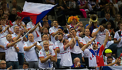 November 10, 2018 - Prague, Czech Republic - Czech Fans at the 2018 Fed Cup Final between the Czech Republic and the United States of America (Credit Image: © AFP7 via ZUMA Wire)