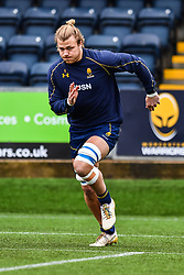 David Denton of Worcester Warriors during the pre match warm up - Mandatory by-line: Craig Thomas/JMP - 27/01/2018 - RUGBY - Sixways Stadium - Worcester, England - Worcester Warriors v Exeter Chiefs - Anglo Welsh Cup