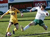 Fotball , <br /> Adeccoligaen  21 April  2007 , Briskeby Gressbane , <br /> HamKam  v  Bodø-Glimt 2-3<br /> <br /> Foto:Dagfinn Limoseth - Digitalsport<br /> <br /> John Anders Rise , HamKam og Mounir Hamoud , Bode-Glimt