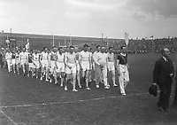 H2488<br /> Opening of Tailteann Games. Picture of various teams parading. 1932 (Part of the Independent Newspapers Ireland/NLI Collection)