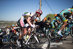 Molly Meyvisch (BEL) of Servetto Footon Cycling Team rides up the Mur de Huy during the first lap of the Flèche Wallonne Femmes - a 137km road race from starting and finishing in Huy on April 20, 2016 in Liege, Belgium.