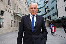 © Licensed to London News Pictures. 26/06/2016. London, UK. Former Work and Pensions Secretary IAIN DUNCAN SMITH leaves BBC Broadcasting House in London after appearing on The Andrew Marr show on BBC One on Sunday, 26 June 2016. Photo credit: Tolga Akmen/LNP