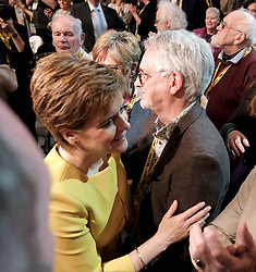 SNP Spring Conference, Sunday 28th April 2019<br /> <br /> Pictured: First Minister Nicola Sturgeon with her dad Robin<br /> <br /> Alex Todd   Edinburgh Elite media