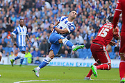 Brighton central midfielder, Beram Kayal shoots at goal during the Sky Bet Championship match between Brighton and Hove Albion and Cardiff City at the American Express Community Stadium, Brighton and Hove, England on 3 October 2015. Photo by Phil Duncan.