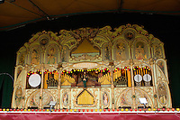 Large pipe organ at a steam fair in Yorkshire